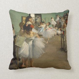 Degas Dance Class Ballet Dancers Throw Pillow