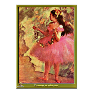 Degas - Dancer in Pink Dress-1880 Poster
