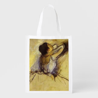 Degas Dancer in Yellow Fine Art Market Totes