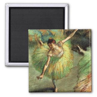 Degas - Dancer Tilting 2 Inch Square Magnet