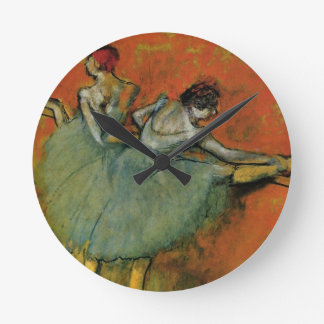Degas, Dancers at the Barre Wall Clock