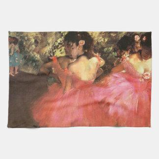 Degas Dancers in Pink Kitchen Towel