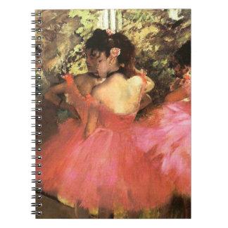 Degas Dancers in Pink Notebook