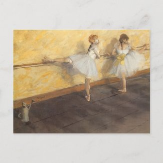Degas' Dancers Practicing at the Barre postcard