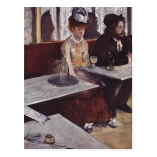 Degas, Edgar Germain Hilaire Der Absinth 1876 Tech Postcard