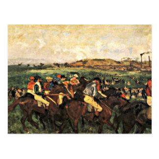 Degas - Gentlemen Jockeys Before the Start Postcard