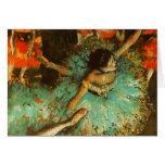 Degas Green Dancer Ballet Impressionist Greeting Cards