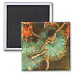 Degas Green Dancer Ballet Impressionist Magnet