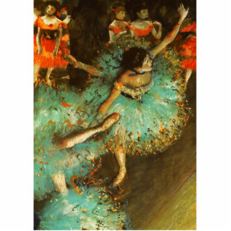 Degas Green Dancer Ballet Impressionist Photo Cut Out
