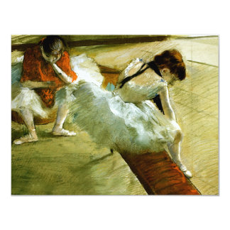 Degas painting Gallery Player ballet ballerina art 4.25x5.5 Paper Invitation Card