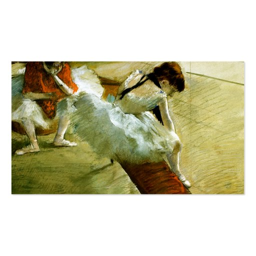 Degas painting Gallery Player ballet ballerina art Double-Sided Standard Business Cards (Pack Of 100)