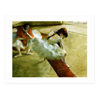 Degas painting Gallery Player ballet ballerina art Postcard