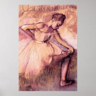 Degas Pink Ballerina Poster