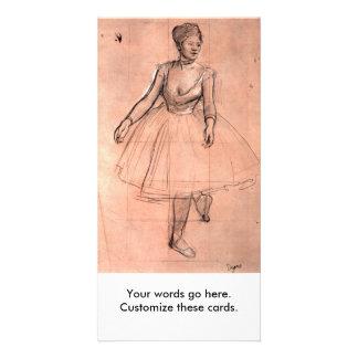 Degas pretty ballerina sketch ballet dancer art card
