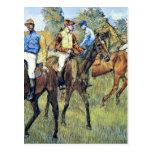 Degas - Race Horses, 1878, artwork Postcard