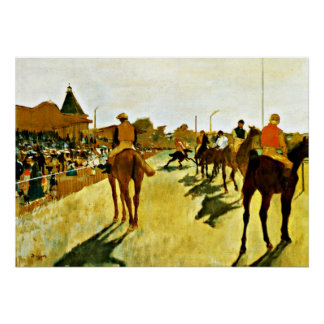 Degas: Racehorses Before the Stands Poster