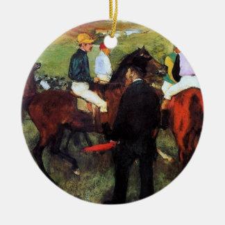 Degas - Racehorses Christmas Ornament