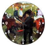 Degas - Racehorses Wall Clocks