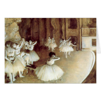 Degas' Rehearsal on Stage Cards
