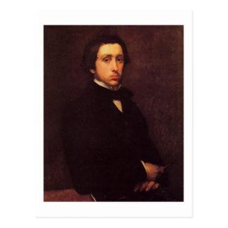 Degas self portrait postcard