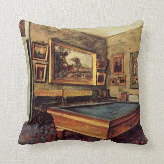 Degas - The Billiard Room Throw Pillow