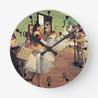 Degas: The Dance Class, 1874 Round Clock