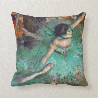 Degas - The Green Dancers Throw Pillows