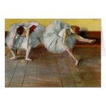 Degas Two Ballet Dancers Greeting Card