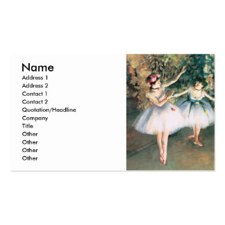 Degas Two Dancers Double-Sided Standard Business Cards (Pack Of 100)
