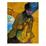 Degas - Vintage Fine Art - Mary Cassatt With Dog Postcards