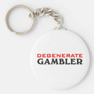 Degenerate Gambler Keychain