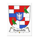 Degenfeld Family Crest Gallery Wrapped Canvas