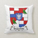 Degenfeld Family Crest Throw Pillow