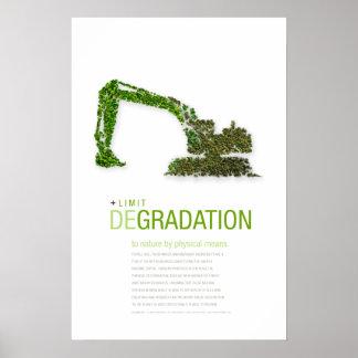 Degradación del límite: Poster del principio de la