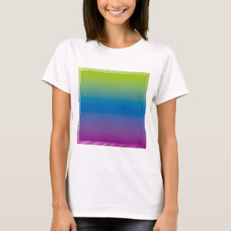 Degraded square design, blue green violet T-Shirt