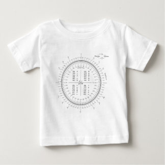 Degree and Radian Conversion Trigonometry Chart Baby T-Shirt