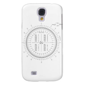 Degree and Radian Conversion Trigonometry Chart Samsung Galaxy S4 Cover