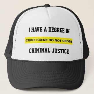 Degree in Criminal Justice Hat