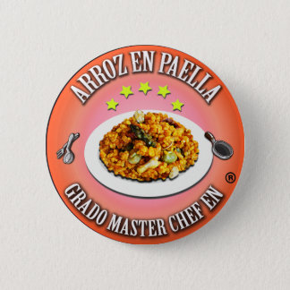 Degree Master Chef in Rice in Paella Pinback Button