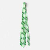 Degrees of Green Argyle Custom Tie
