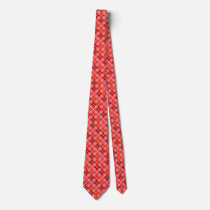 Degrees of Red III Argyle Necktie