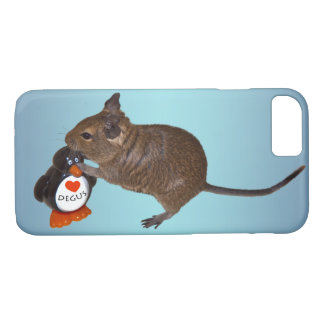 Degu and Toy iPhone 8/7 Case (Sky Blue Mix)