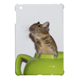 Degu en mini caso del iPad verde de la tetera iPad Mini Carcasa