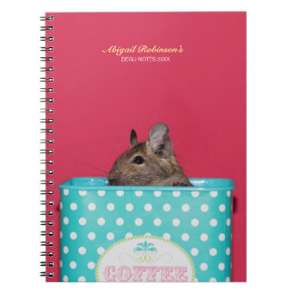 Degu in a Coffee Tin Personalized Notebook
