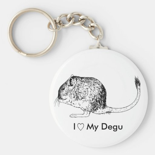 Degu Love Keychain