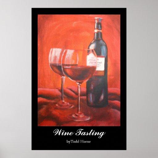 Degustación de vinos 03 póster