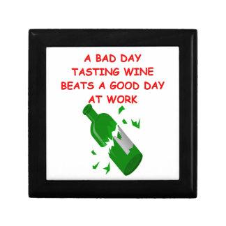 degustación de vinos caja de recuerdo