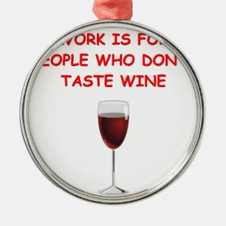 degustación de vinos ornamentos de navidad