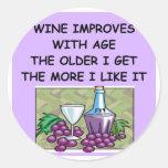 degustación de vinos pegatina redonda