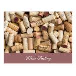 Degustación de vinos postales